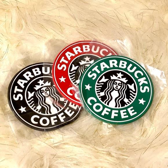 Inspired Starbucks Coaster set of 3